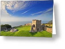 Llansteffan Castle 2 Greeting Card