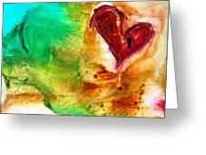 Llave Para El Corazon Greeting Card