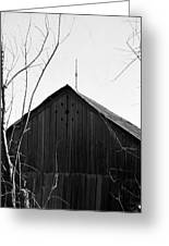 lloyd-shanks-barn-1BW Greeting Card
