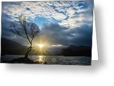 Llyn Padarn Sunburst Greeting Card