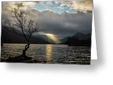 Llyn Padarn Sunrays Greeting Card