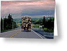 Load Of Logs Greeting Card