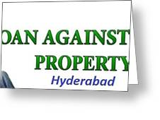 Loan Against Property In Hyderabad  Letzbank Greeting Card