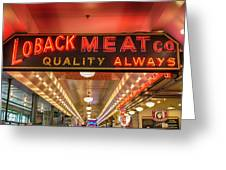 Loback Meat Co Neon Greeting Card