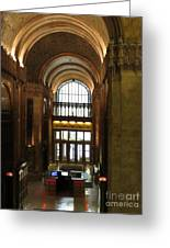Lobby Of Woolworth Building Greeting Card