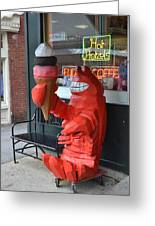Lobsta Greeting Card