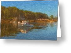 Lobster Boat Boothbay Harbor Greeting Card