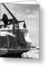 Lobster Boat Near Rye Harbor In  New England Greeting Card