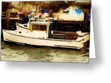 Lobster Boat Stonington Ct Greeting Card