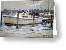 Lobster Boats In Shark River Greeting Card