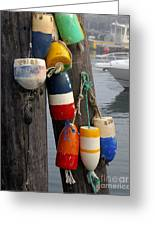 Lobster Buoy At Water Taxi Pier Greeting Card