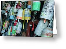 Lobster Buoys Hanging Greeting Card
