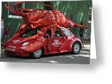 Lobster Car Greeting Card