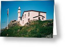 Lobster Cove Lighthouse Greeting Card