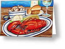 Lobster Dinner Greeting Card