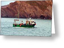 Lobster Fishing Boat Greeting Card