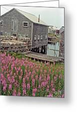 Lobster House Grand Manan Greeting Card