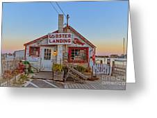 Lobster Landing Sunset Greeting Card