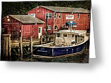 Lobster Market In Boothbay Harbor Greeting Card