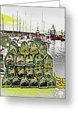 Lobster Pots Kilmore Quay, Wexford, Ireland, Poster Effect 1a Greeting Card