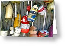 Lobster Trap Buoys 1 Greeting Card