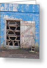 Lobster Trap Storage-3 Greeting Card
