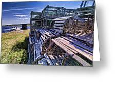 Lobster Traps In The Sun Greeting Card