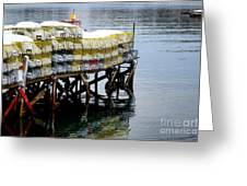 Lobster Traps In Winter Greeting Card