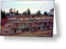 Lobster Traps Greeting Card by Jeff Kolker