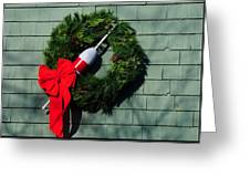 Lobsterman's Christmas Wreath Greeting Card