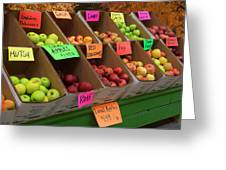 Local Apples For Sale Greeting Card
