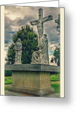 Local Cemetery Statue Greeting Card