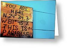 Location Paradise Greeting Card