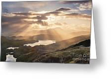 Loch Ard Sunburst 1 Greeting Card