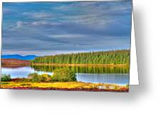 Loch Kinardochy Reflections Greeting Card