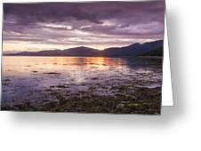 Loch Linnhe - The Last Rays Of The Sun. Greeting Card