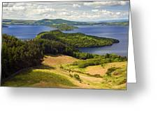 Loch Lomond From Conic Hill Greeting Card