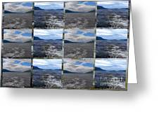 Loch Ness In Squares Greeting Card
