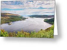 Loch Riddon And Isle Of Bute Greeting Card