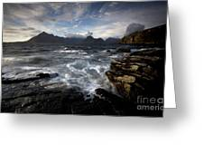 Loch Scavaig And The Cuillin Greeting Card