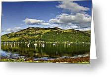 Lochgoilhead Panorama Greeting Card