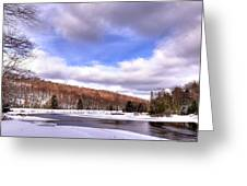 Lock And Dam Snowscape Greeting Card