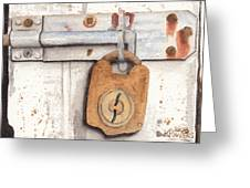 Lock And Latch Greeting Card