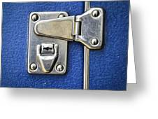 Lock On A Blue Suitcase Greeting Card