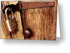 Locked Barn Greeting Card