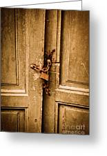 Locked Greeting Card by Gabriela Insuratelu