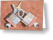 Locked In An Embrace Greeting Card