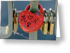 Locked Love Greeting Card