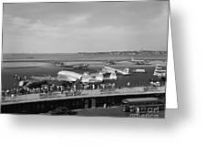 Lockheed Constellation Plane Fueling Up Greeting Card