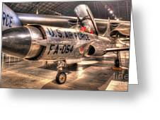 Lockheed F-94 Model C Starfire Greeting Card